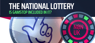 header image of gamstop and the National Lottery
